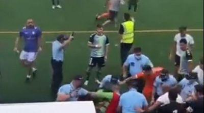 Batalla campal en Portugal: disparos al aire y un jugador encañonado
