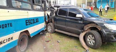 Múltiple accidente con daños materiales sobre la autopista Silvio Pettirossi