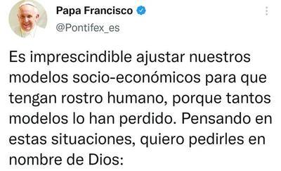 Papa Francisco habla de ajustar el modelo socio-económico y lanza tajantes pedidos a diversos sectores