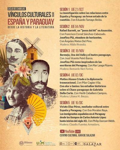Vínculos culturales entre España y Paraguay se abordará en ciclo de charlas que inicia este jueves