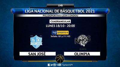 San José y Olimpia Kings abren la cuarta fecha de la Liga Nacional