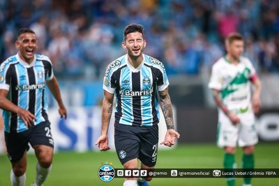 Villasanti espera que sea 'el primero de muchos goles' con Grêmio