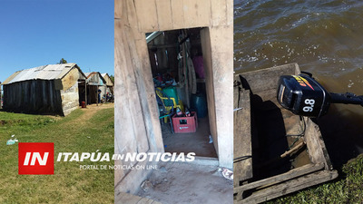 HURTAN TRES MOTORES FUERA DE BORDA EN ATINGUY PUERTO. / Itapúa Noticias