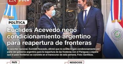 La Nación / LN PM: las noticias más relevantes de la siesta del 18 de octubre