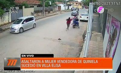 Así asaltaron a vendedora de quiniela en Villa Elisa
