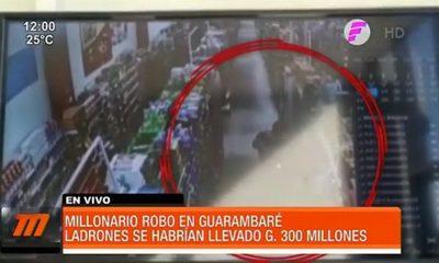 Millonario robo a supermercado en Guarambaré