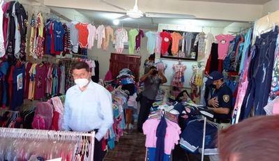 Fiscal incauta ropas falsificadas en Luque •