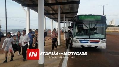 EXPECTATIVA POR EL TRANSPORTE INTERNACIONAL DE PASAJEROS POSADAS-ENCARNACIÓN. / Itapúa Noticias