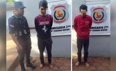 Sorprenden a dos ladrones en plena acción delictiva