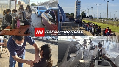AGOTADORA PERO EXITOSA JORNADA DE VACUNACIÓN CONTRA EL COVID EN ENCARNACIÓN. / Itapúa Noticias