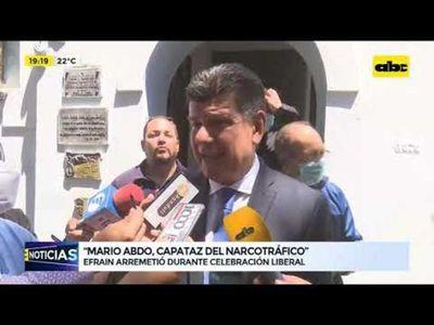 Efraín Alegre arremetió contra Mario Abdo Benítez y HC