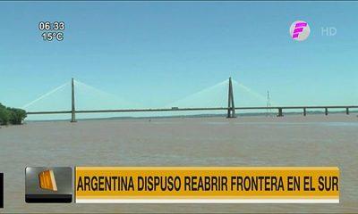 Argentina dispuso reabrir frontera en el Sur desde este martes