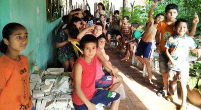 Más de 50 niños reciben almuerzo y merienda en Caacupé gracias a un comedor