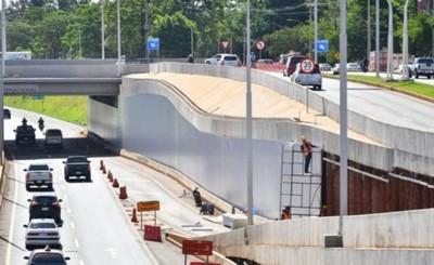 Revestimiento del multiviaducto registra un avance del 70%