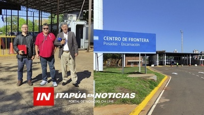 150 TAXISTAS DE ENCARNACIÓN ESPERAN PODER CRUZAR PERSONAS HASTA LA CABECERA DE POSADAS.