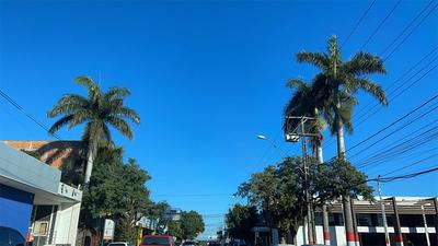 Mitad de semana caluroso en Coronel Oviedo