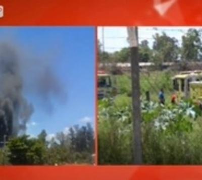 Logran extinguir incendio en predio de la exCaballería