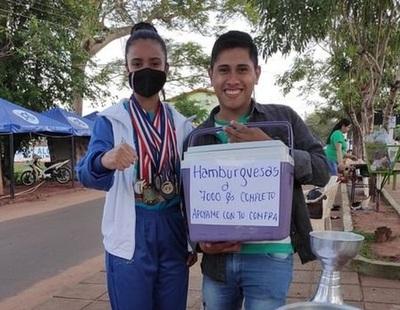 Atleta vende hamburguesas para competir en Brasil