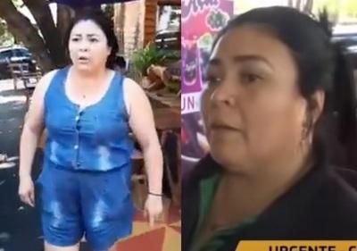 """Dueña de heladería asegura que fue """"atropellada"""" y se defendió"""