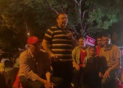 Rivas dice que tiene cáncer pero se aglomeró y festejó victoria colorada en Ybycuí