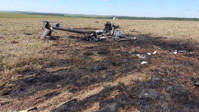 Helicóptero con carga de cocaína cae en la frontera con Paraguay