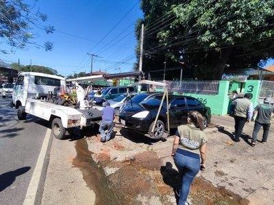 Crónica / ¡NUNCA ANTES VISTO! Despejaron veredas de Eusebio Ayala
