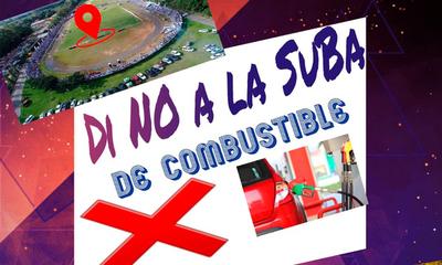 En Coronel Oviedo convocan a manifestación contra suba de combustible