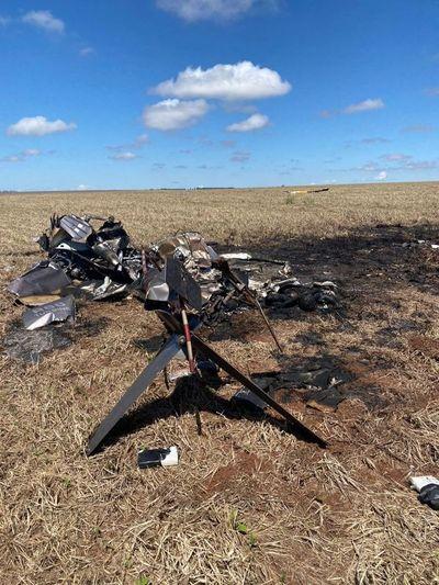 Helicóptero cargado de cocaína empaquetada cayó en una estancia en Ponta Porá