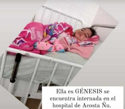 """""""Está luchando por su vida"""", madre apela a la solidaridad para costear gastos de operación de su hija"""
