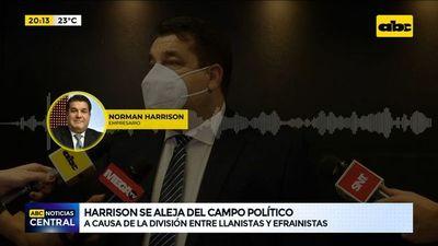 El empresario Norman Harrison se aleja del campo político