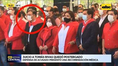 Postergan juicio a Tomás Rivas aparentemente por problemas de salud