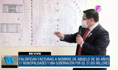 Falsificación de facturas salpica a 17 Municipalidades y una Gobernación