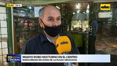 Microcentro de Asunción: Masivo robo nocturno y sin iluminación
