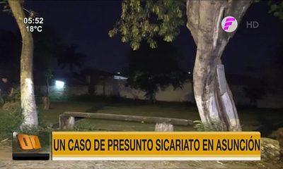 Presunto caso de sicariato en Asunción