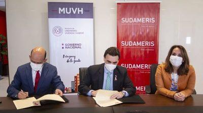 Sudameris financiará para acceder a viviendas del MUVH