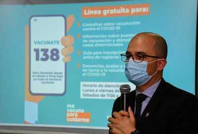 Se habilita el 138, línea gratuita para consultas sobre vacunación anticovid