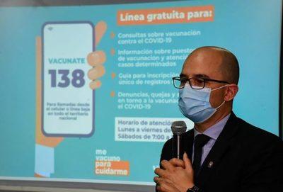 Se habilita el 138, línea gratuita para consultas sobre vacunación anticovid – Prensa 5