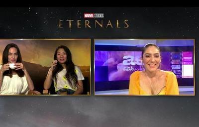 Eternals: Lu Sapena conversó con Angelina Jolie y Chloé Zhao