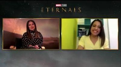 """Hola, María"", así saludó Salma Hayek a Majo Peralta en conversación sobre Eternals"