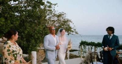 La Nación / Vin Diesel acompañó al altar a la hija de Paul Walker