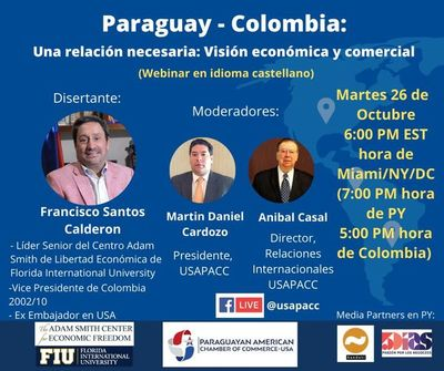 Webinar Paraguay – Colombia: una relación necesaria, visión económica y comercial